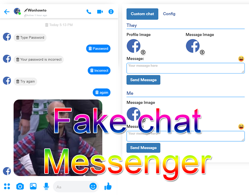 Fake chat Messenger