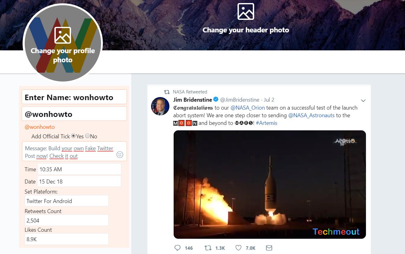 How does a fake tweet generator work