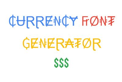 Currency font generator