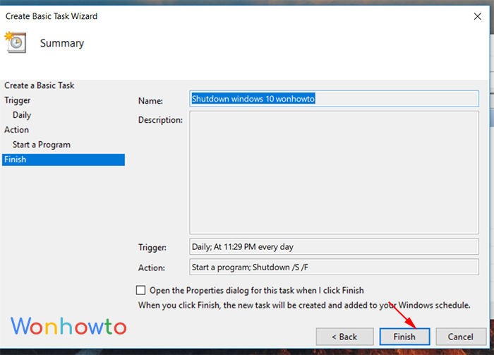 wonhowto scheduler task finish