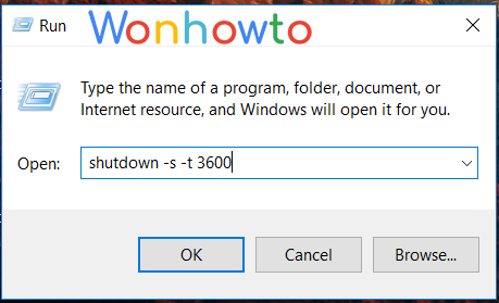 Wonhowto windows shutdown command