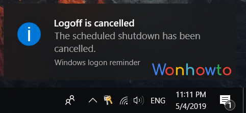 Wonhowto windows shutdown command right screen signed out