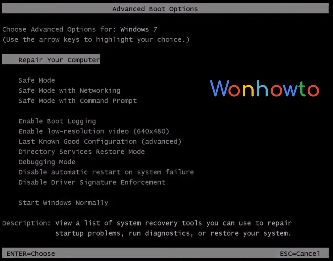 windows 7 how to start in safe mode